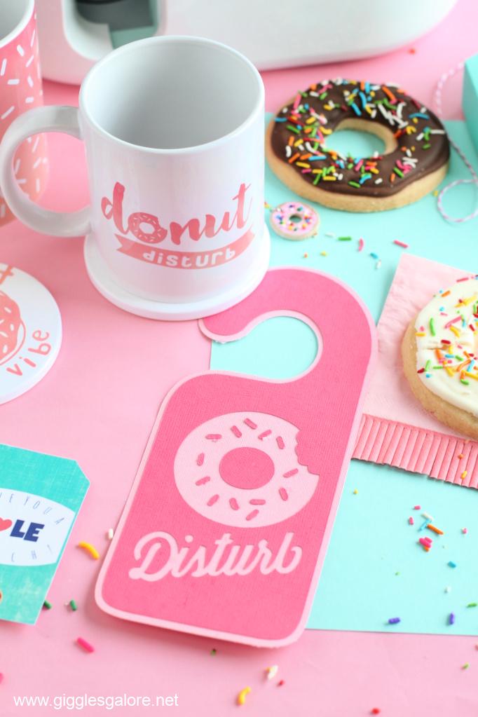 Diy donut distrub door hanger
