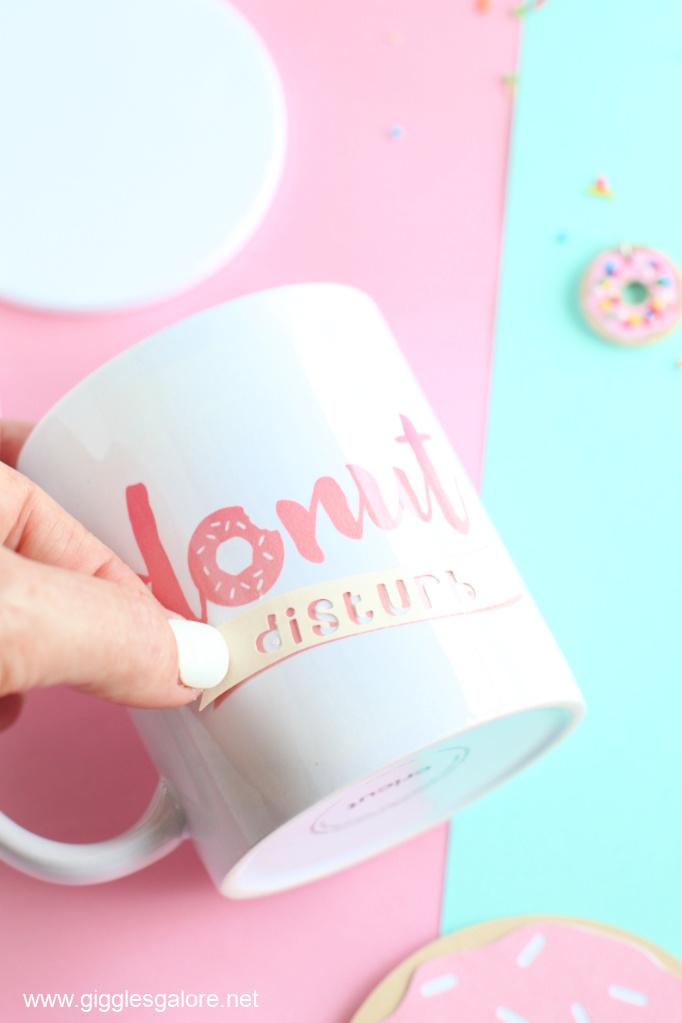Donut disturb infusible ink mug