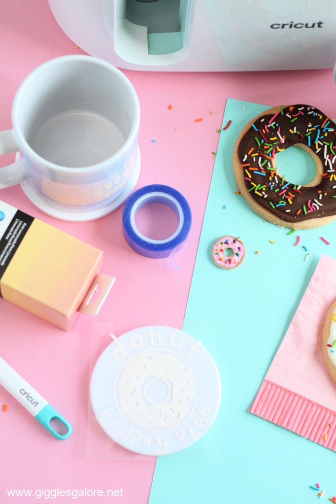 Donut kill my vibe coaster with cricut