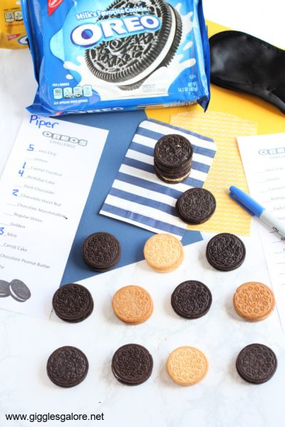 Family activity oreo taste test challenge