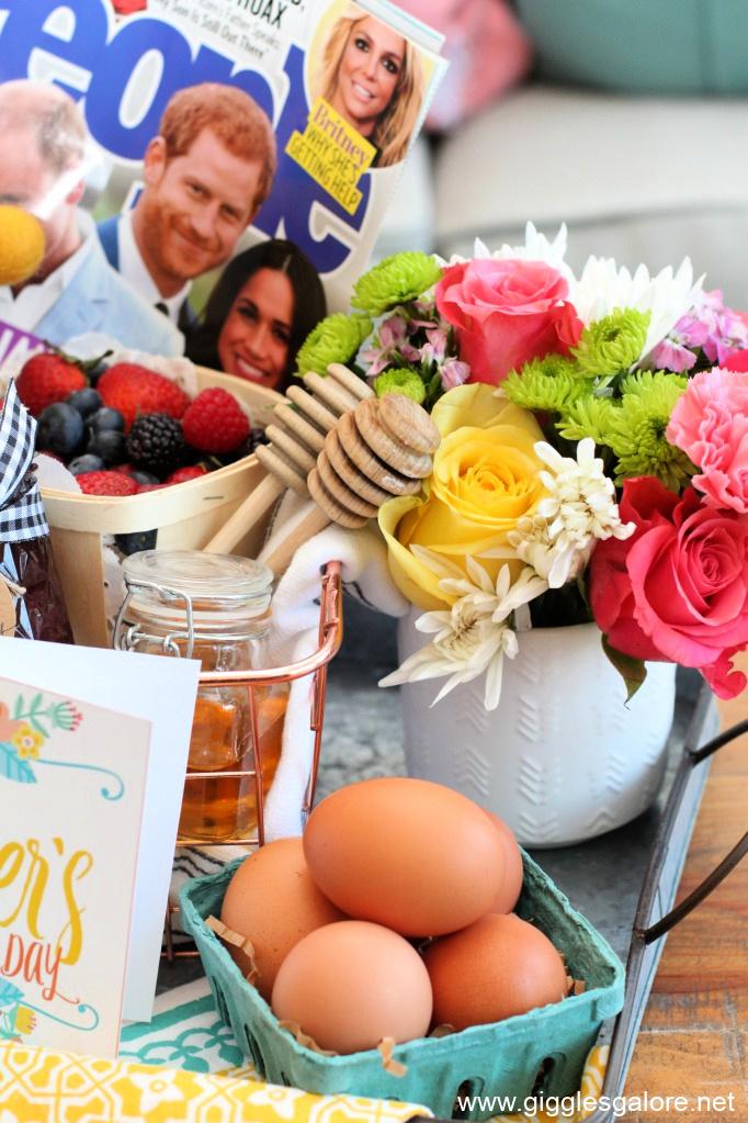 Farm fresh eggs and flowers