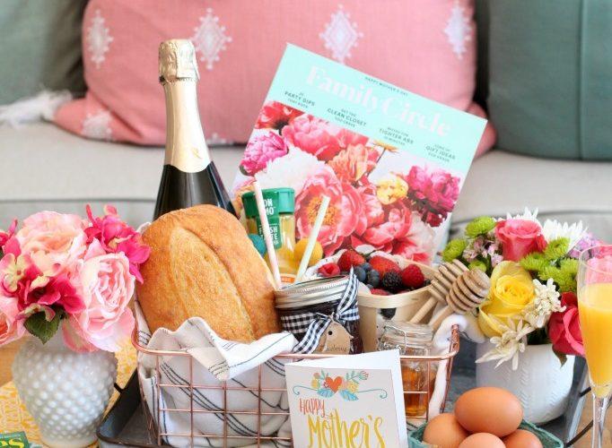 Farmhouse breakfast in bed gift basket