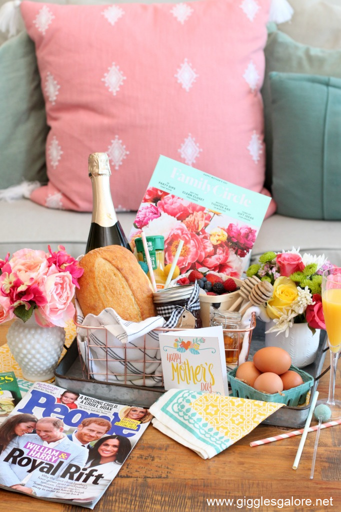 Farmhouse breakfast in bed gift basket