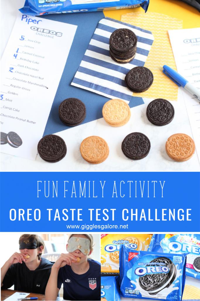 Fun family activity oreo taste test challenge
