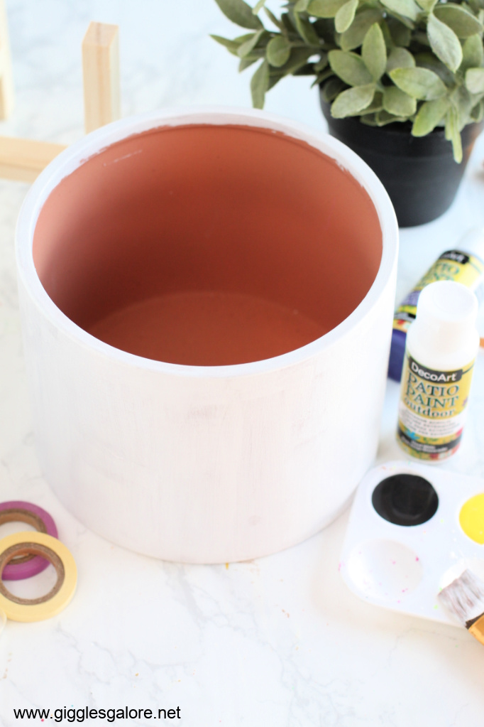 Modern colorblock flower pot step 1