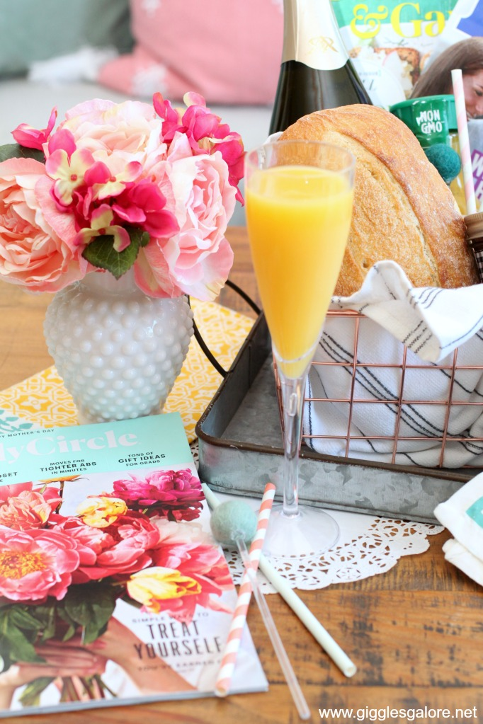 Mothers day mimosa and magazines