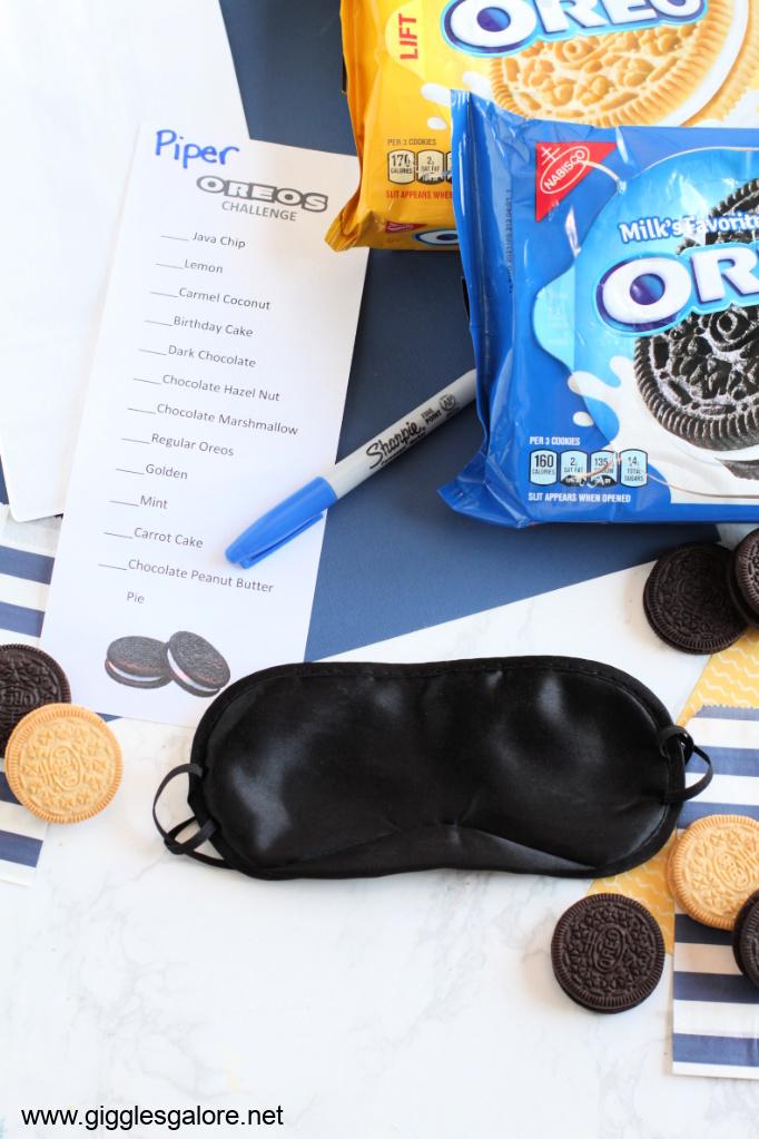 Oreo taste test challenge blindfold