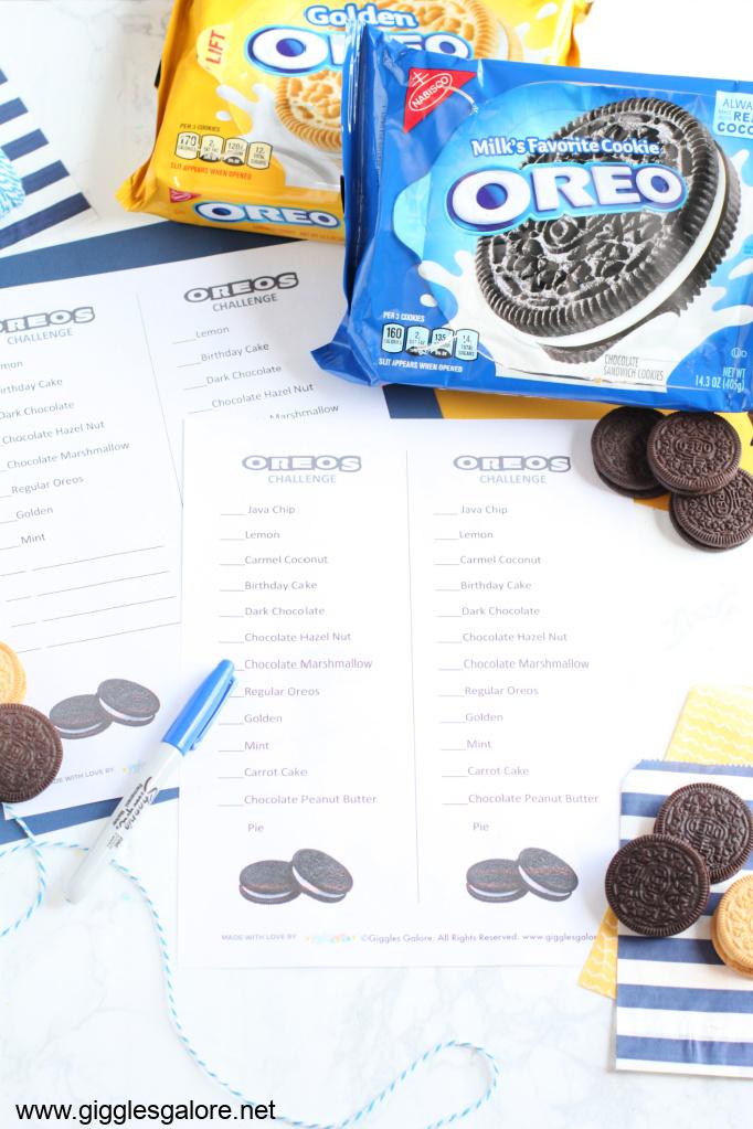 Oreo taste test challenge