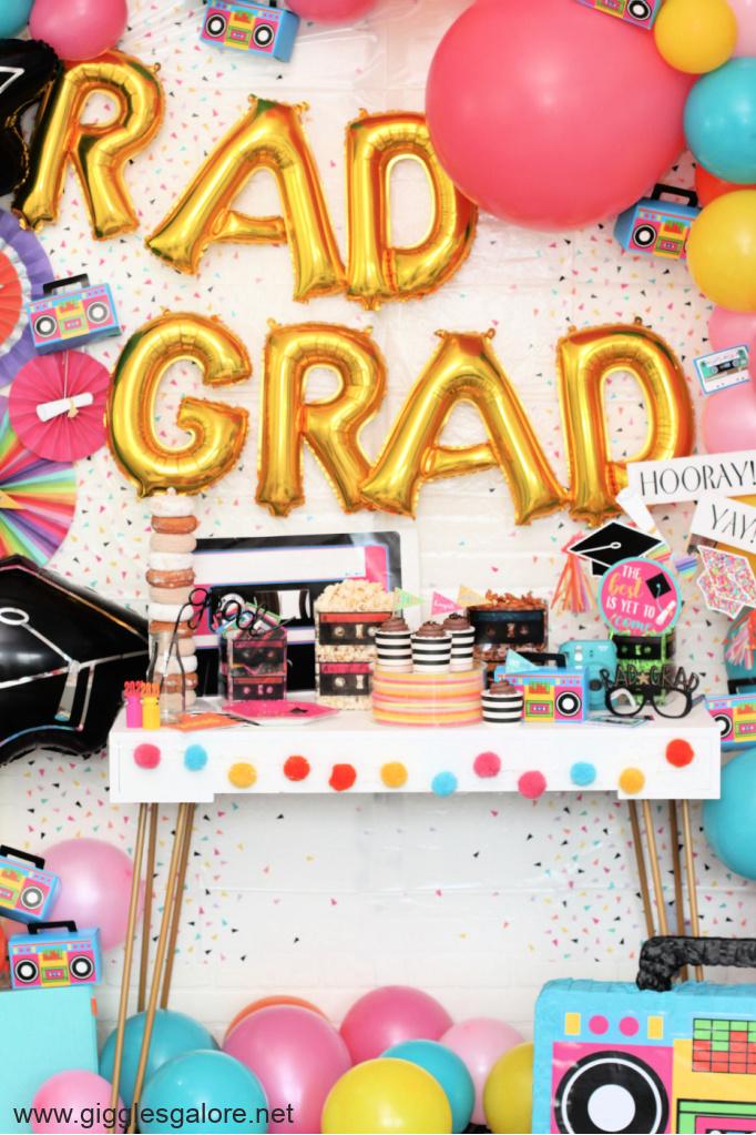 Rad grad graduation balloons