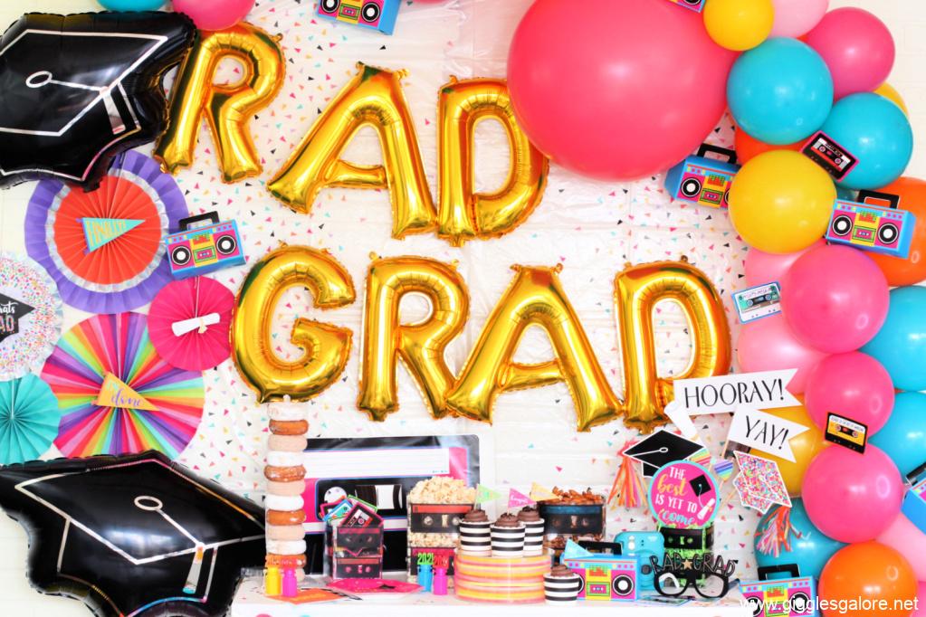 Rad grad graduation party backdrop