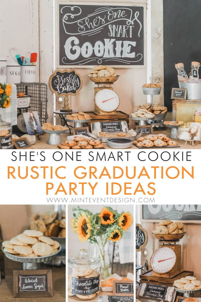 Rustic graduation party ideas mint event design pin