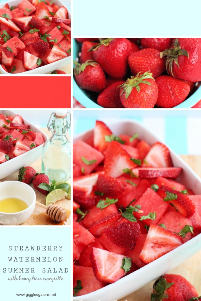 Sweet summer strawberry watermelon salad