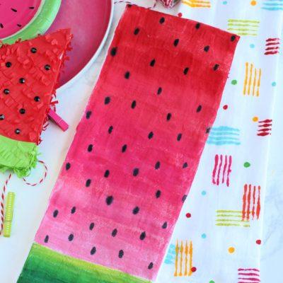 DIY Watermelon Tea Towel