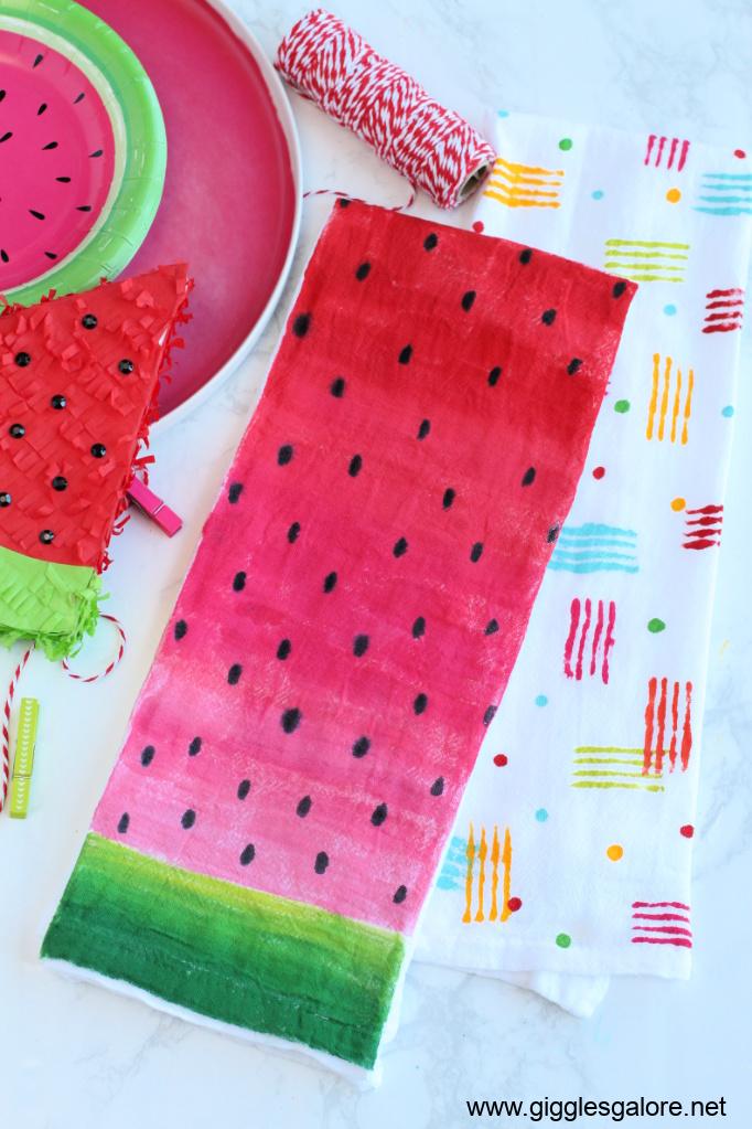 Diy summer tea towel gift ideas