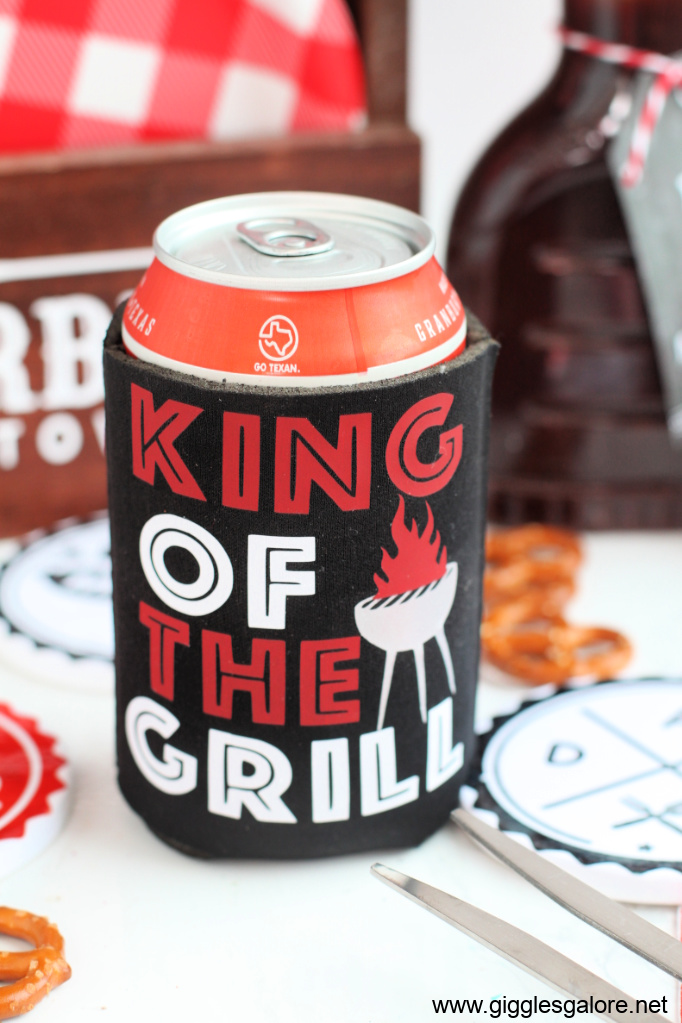 Diy king of the grill koozie