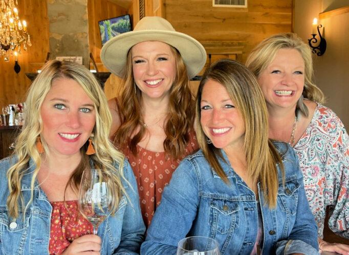 Girls weekend wine tasting arrowhead creek