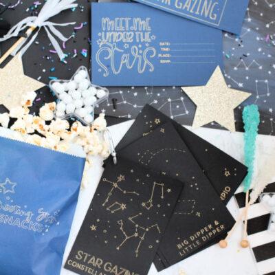 Stargazing Date Night Ideas with Cricut