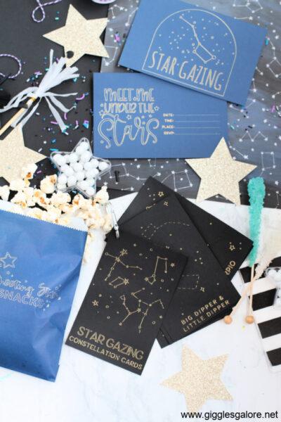 Cricut Star Gazing Date Night Party Ideas