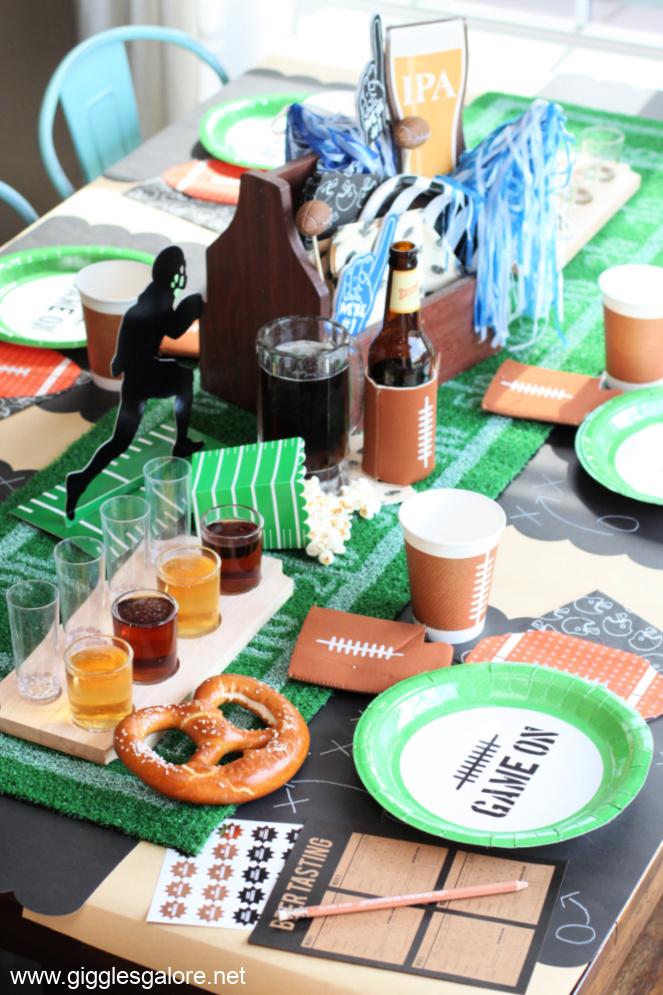 Football Draft Beer Tasting Party