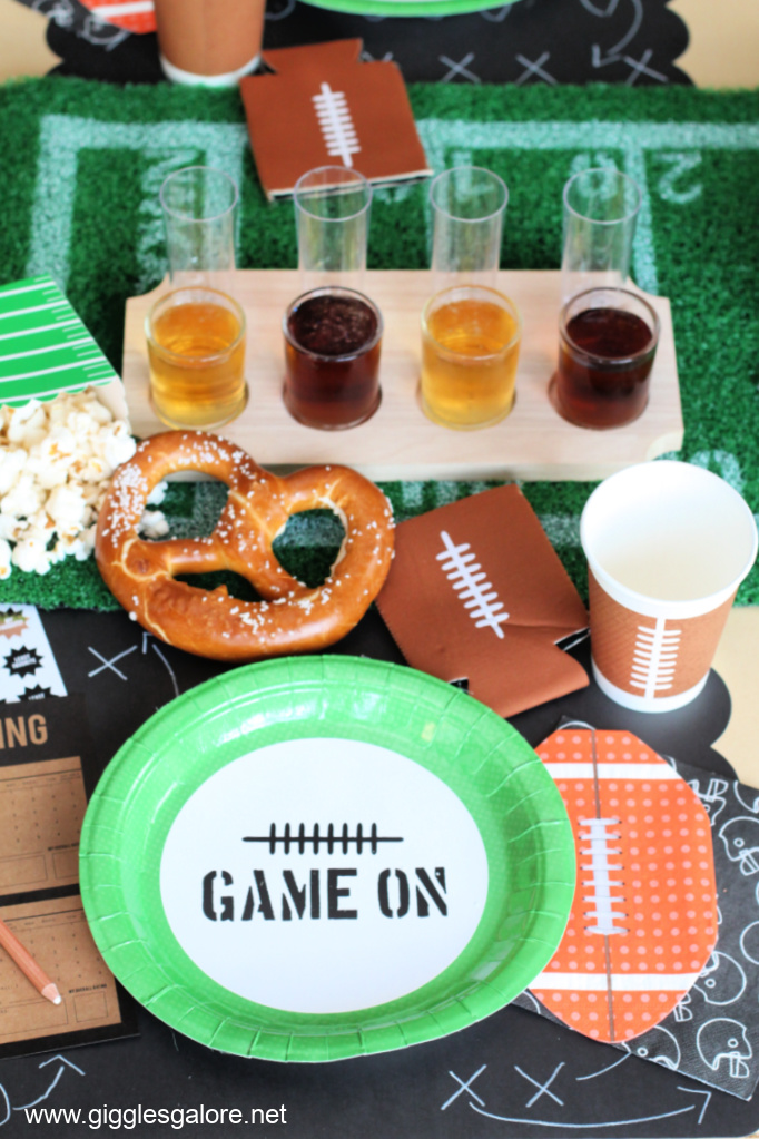 Football Draft Party Table Setting