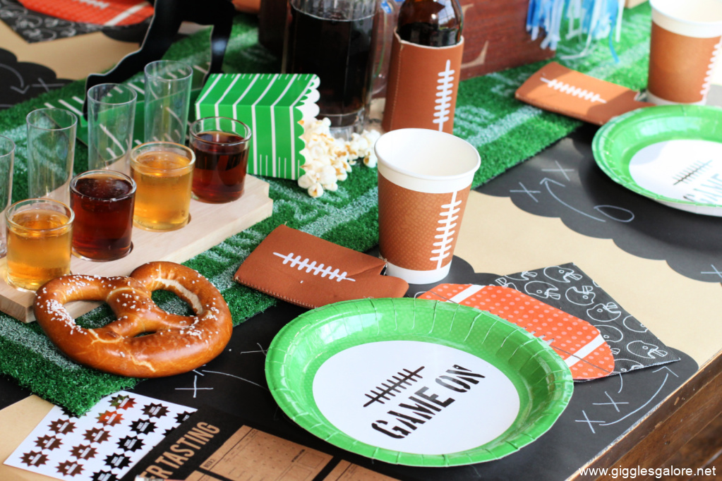 Football Party Table Setting