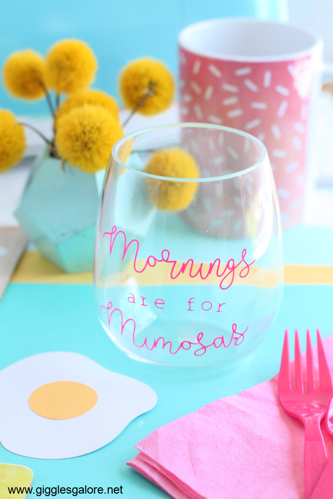 Mornings are for Mimosas DIY Cup