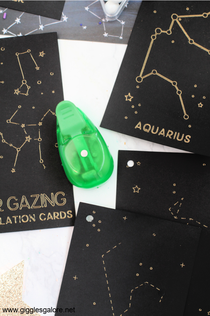 Star Gazing Cards Hole Punch