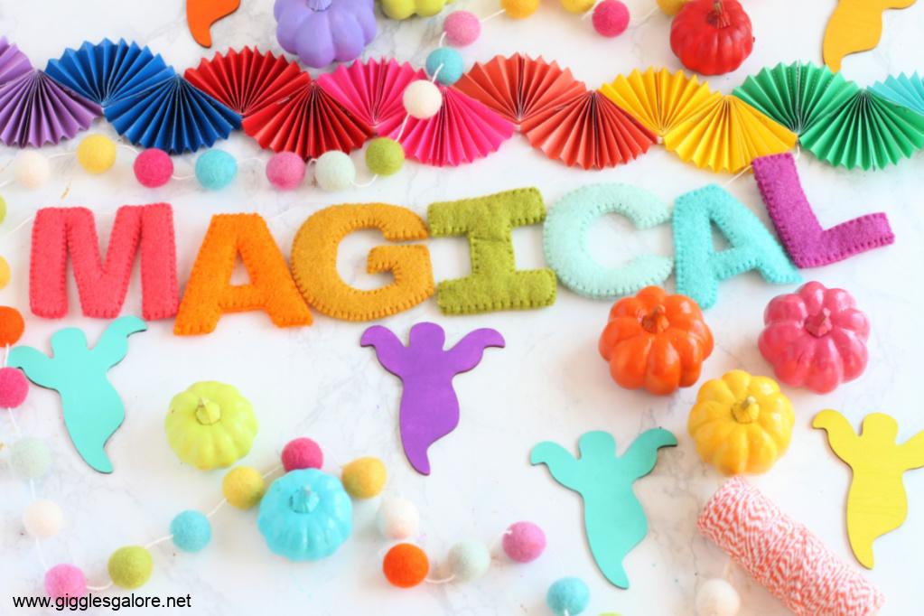 Magical Rainbow Halloween Garlands