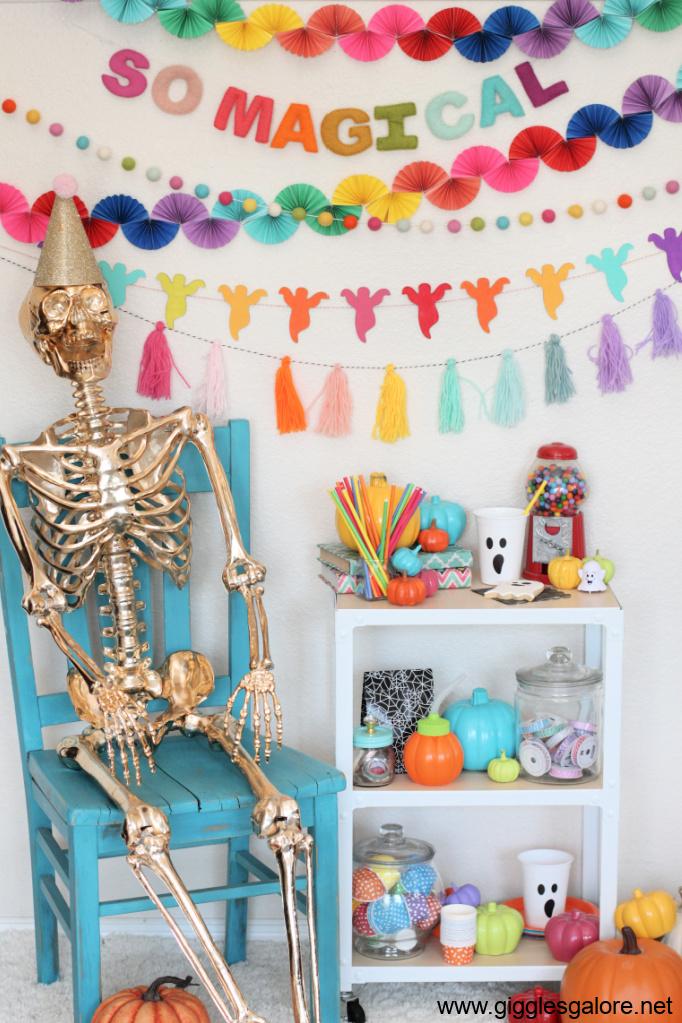 Rainbow Craft Room Halloween Decorations