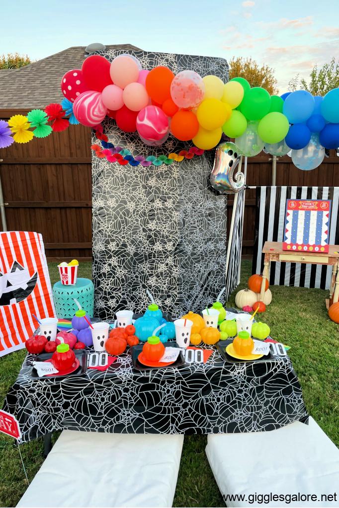 Rainbow Halloween Photo Booth