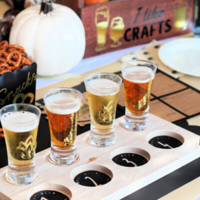 Beer Tasting Birthday Party Ideas with Cricut