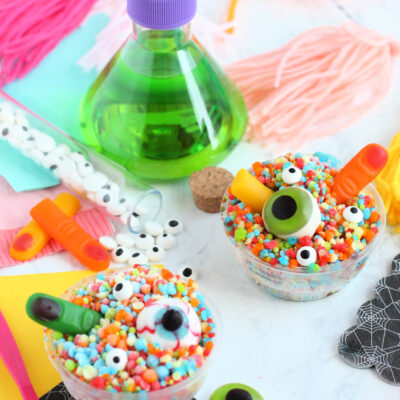 Easy Halloween Desserts Using Candy Eyes