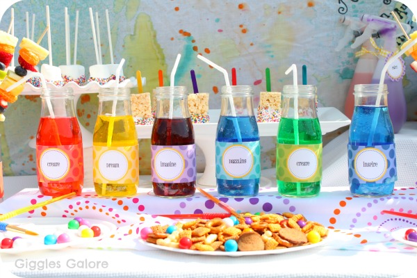 Create dream play art party - Kids party food table ideas ...