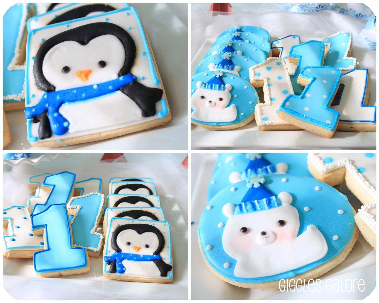 winter onederland polar bears penguins party idea for. Black Bedroom Furniture Sets. Home Design Ideas