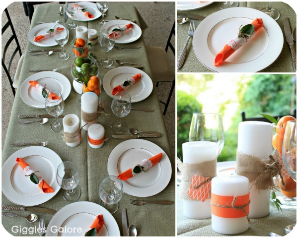 Citrus Dinner Party - Giggles Galore & Captivating Simple Table Setting For Dinner Contemporary - Best ...