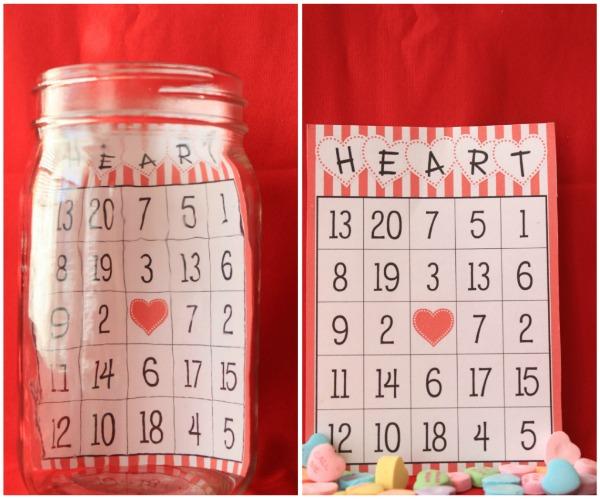 Valentines Day Bingo Jars – Valentines Day Bingo Cards