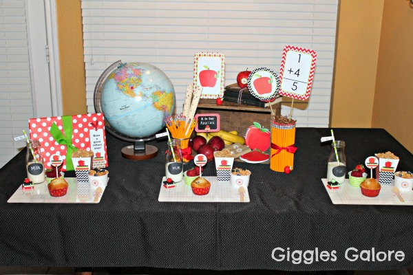First day of school breakfast celebration for Back to school party decoration ideas