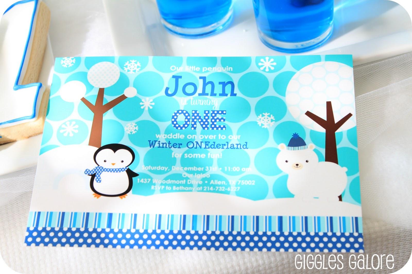 Penguins & Polar Bears Winter ONEderland {Birthday Party}
