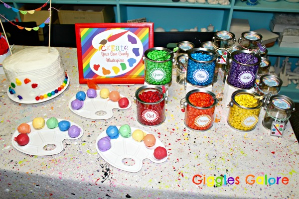 Pottery Painting Party Cake Ideas