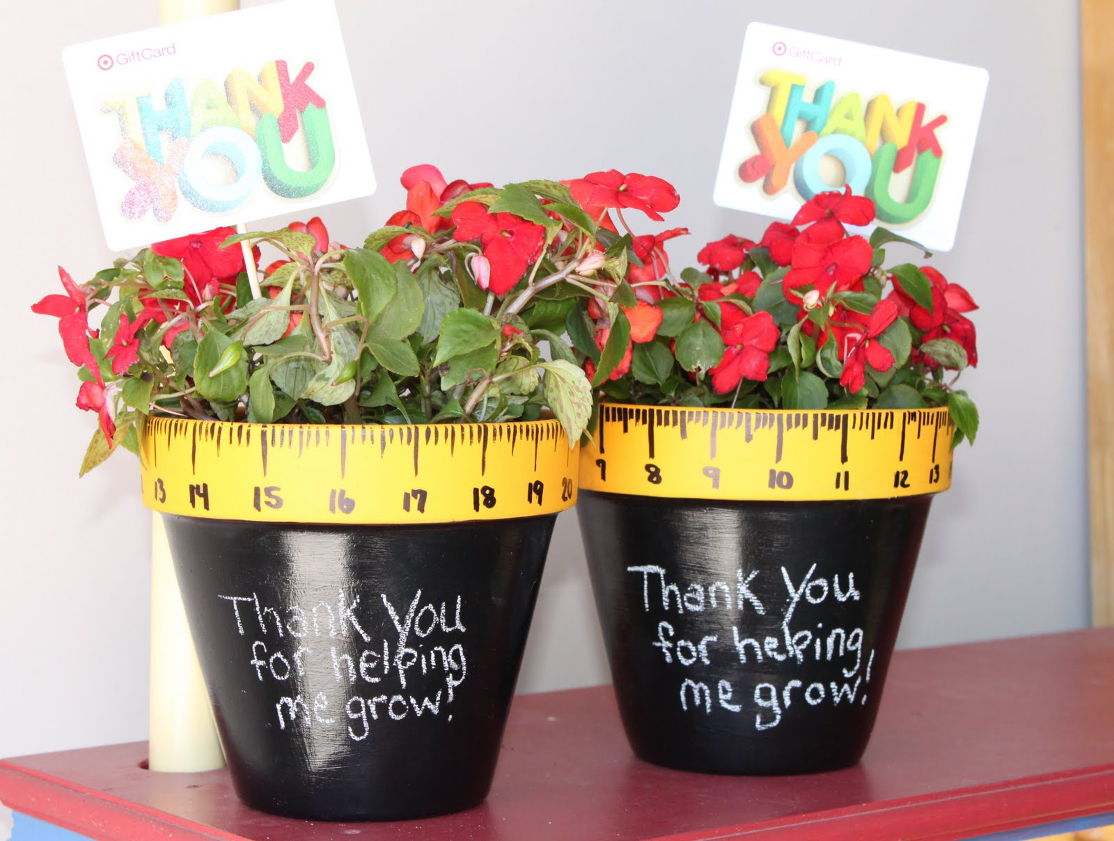 Teacher Gifts: Thanks for Helping Me Grow {Teacher Gifts}   Giggles Galore,