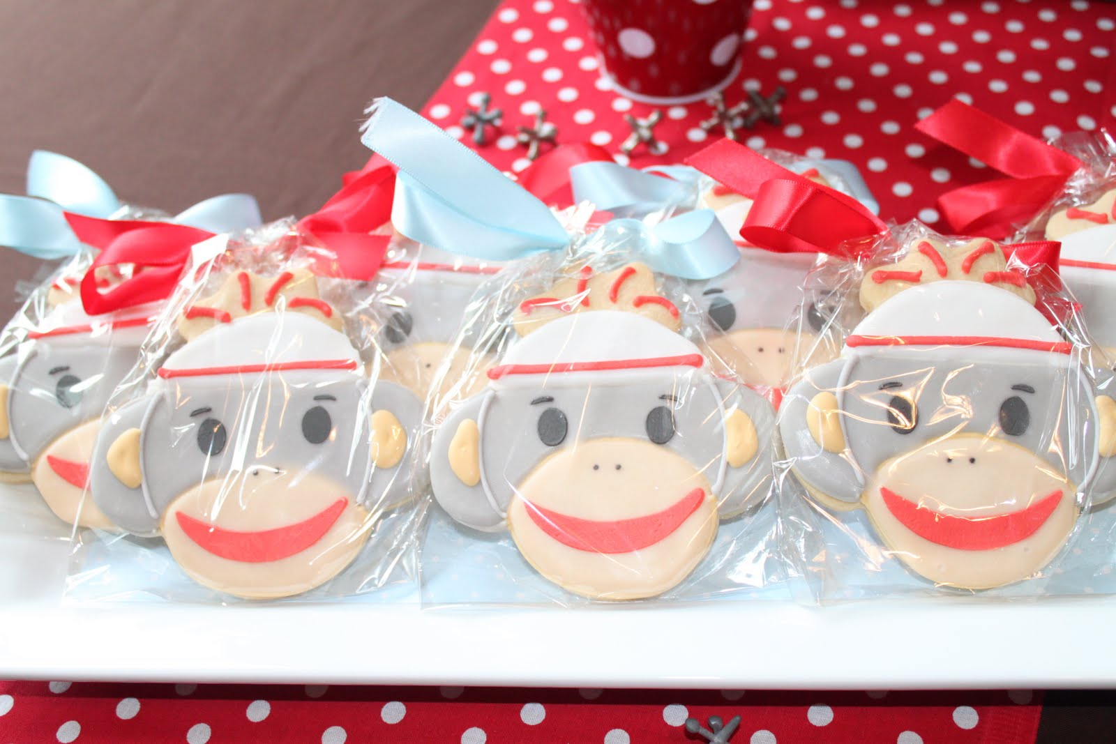 Sock Monkey Baby Shower Party Idea (Invitations, Decorations, Supplies, etc)