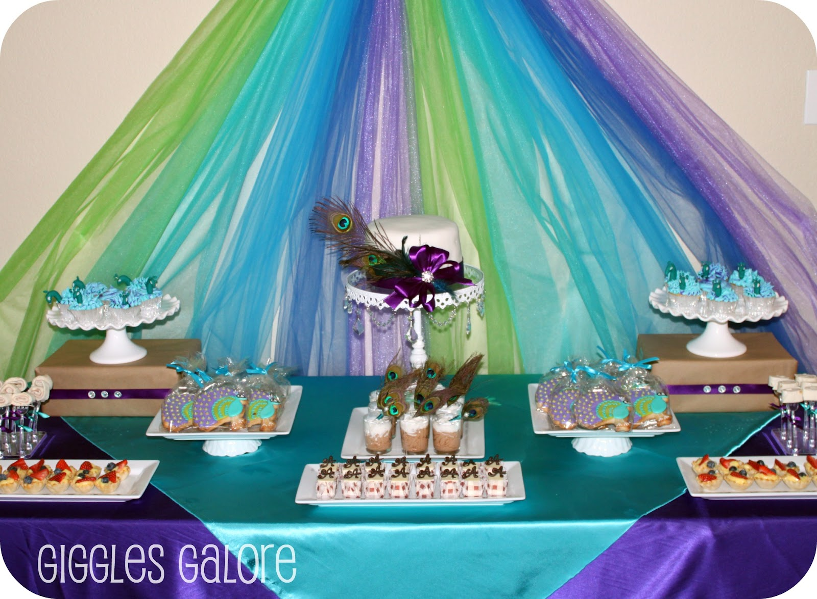 Peacock princess party for Background decoration for birthday party