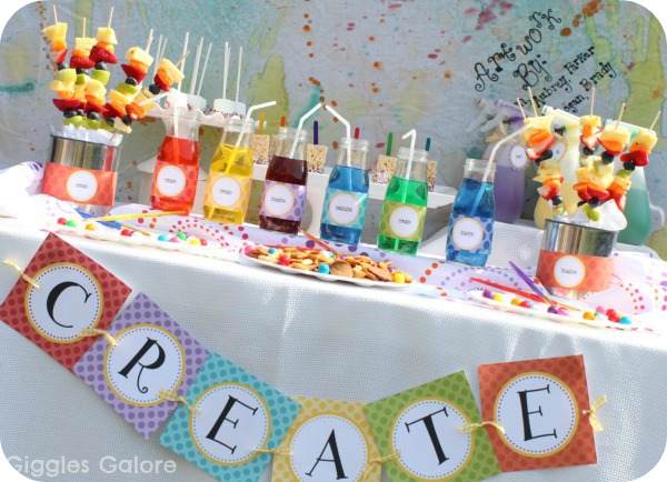 Create dream play art play date - Kids party food table ideas ...