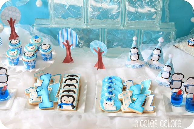 Winter Onederland Polar Bears Amp Penguins Party Idea For