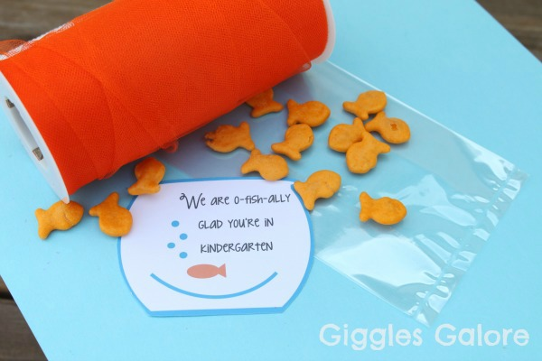 photo regarding O Fish Ally Printable titled O-fish-ally Geared up for Kindergarten - Giggles Galore