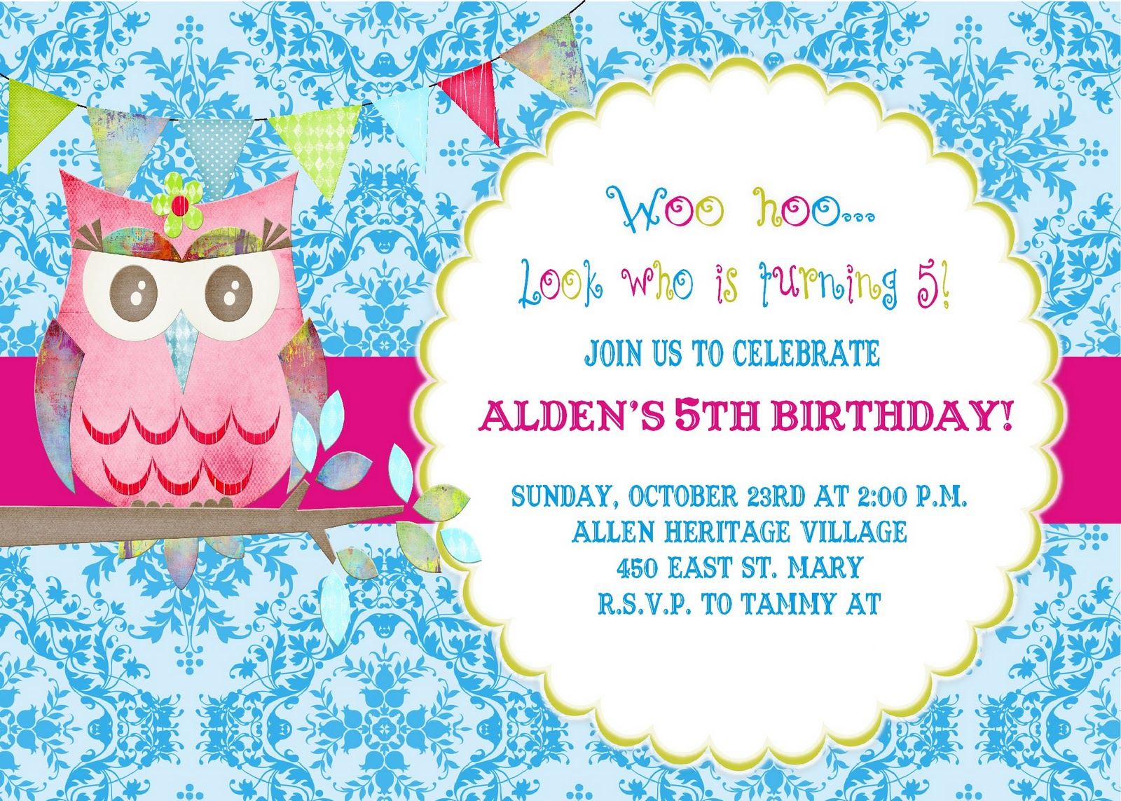 Look Whoos Having a Party Owl Birthday Party – Owl Birthday Invitations