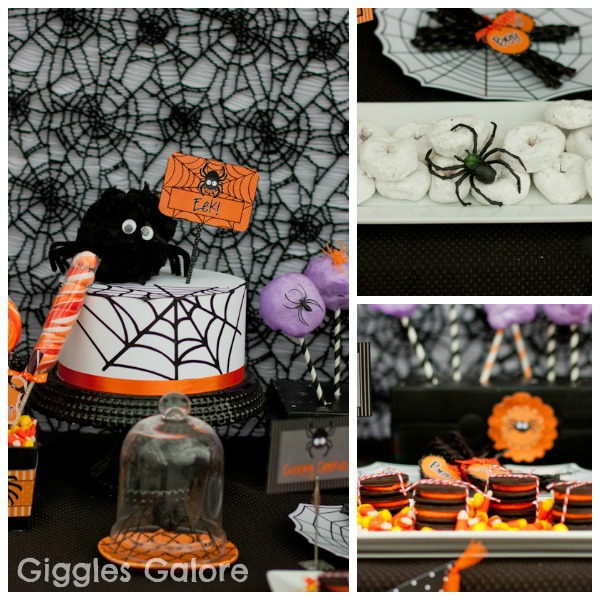 Halloween Themed Birthday Party For Toddler.Spooktacular Halloween Spider Party Giggles Galore