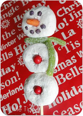 Snowman Donut Class Treats