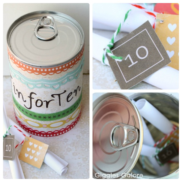 Here are a few other ideas that I thought would be excellent to celebrate your anniversary. & 10 Year Wedding Anniversary / Celebration Gift Idea: DIY Tin for Ten ...