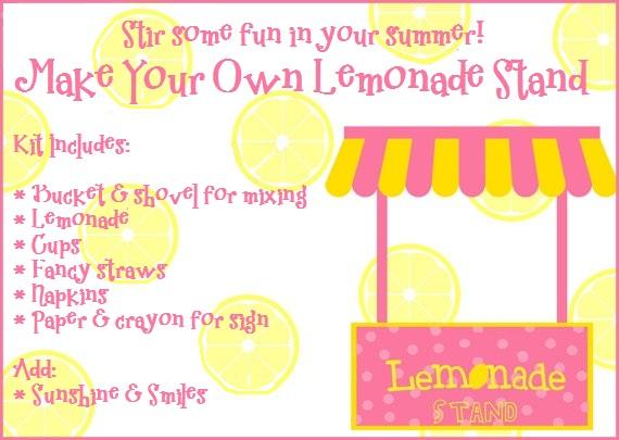 Lemonade Stand Kit Lemonade Sign Ideas